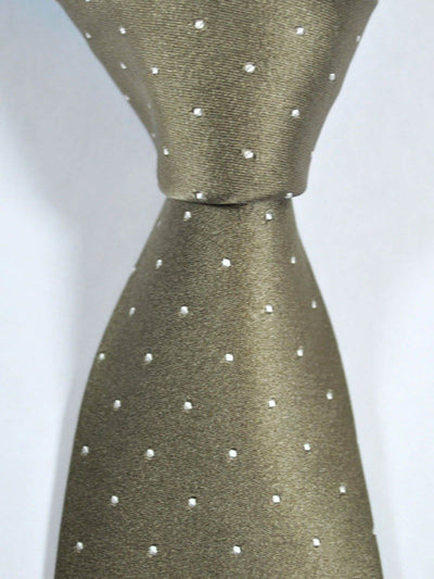 Luigi Borrelli Tie Taupe White Dots FINAL SALE