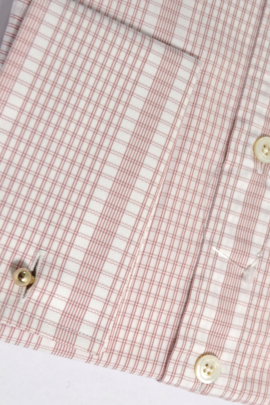 Tom Ford Shirt Pink White Stripes Check