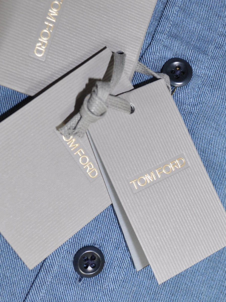 Tom Ford Sport Shirt Denim Blue Button Down Collar