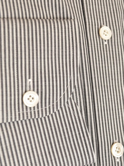Tom Ford Dress Shirt White Gray Stripes