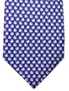 Salvatore Ferragamo Tie Navy Tops Print SALE
