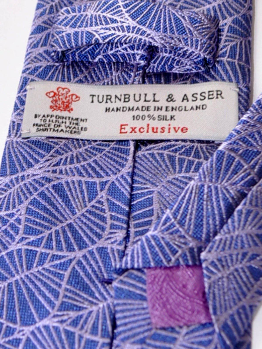 Turnbull & Asser Tie Purple Pink Leaves SALE