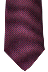 Turnbull & Asser Tie Navy Purple Houndstooth