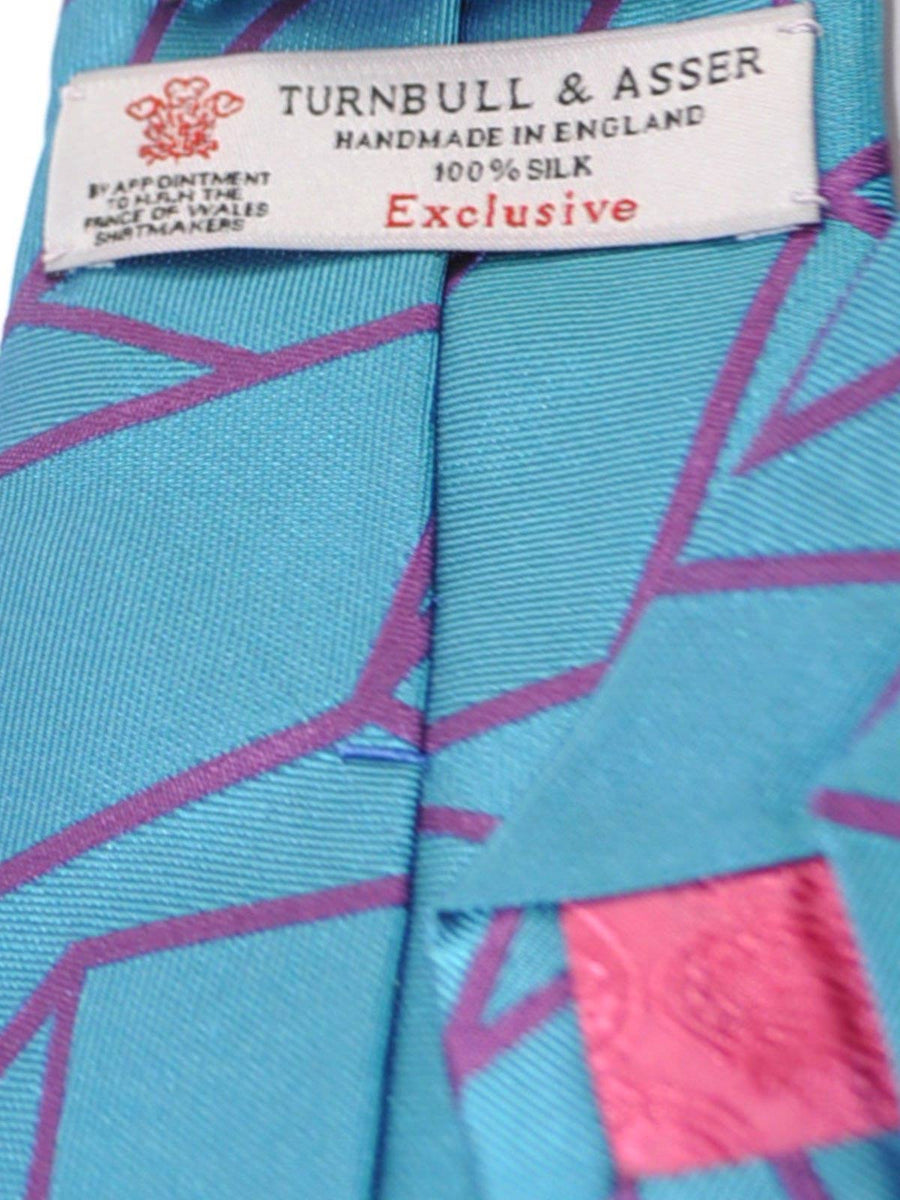 Turnbull & Asser Tie Turquoise Purple
