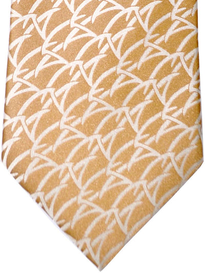 Zilli Tie Cream-Gold Gray Silver Geometric - Wide Necktie FINAL SALE
