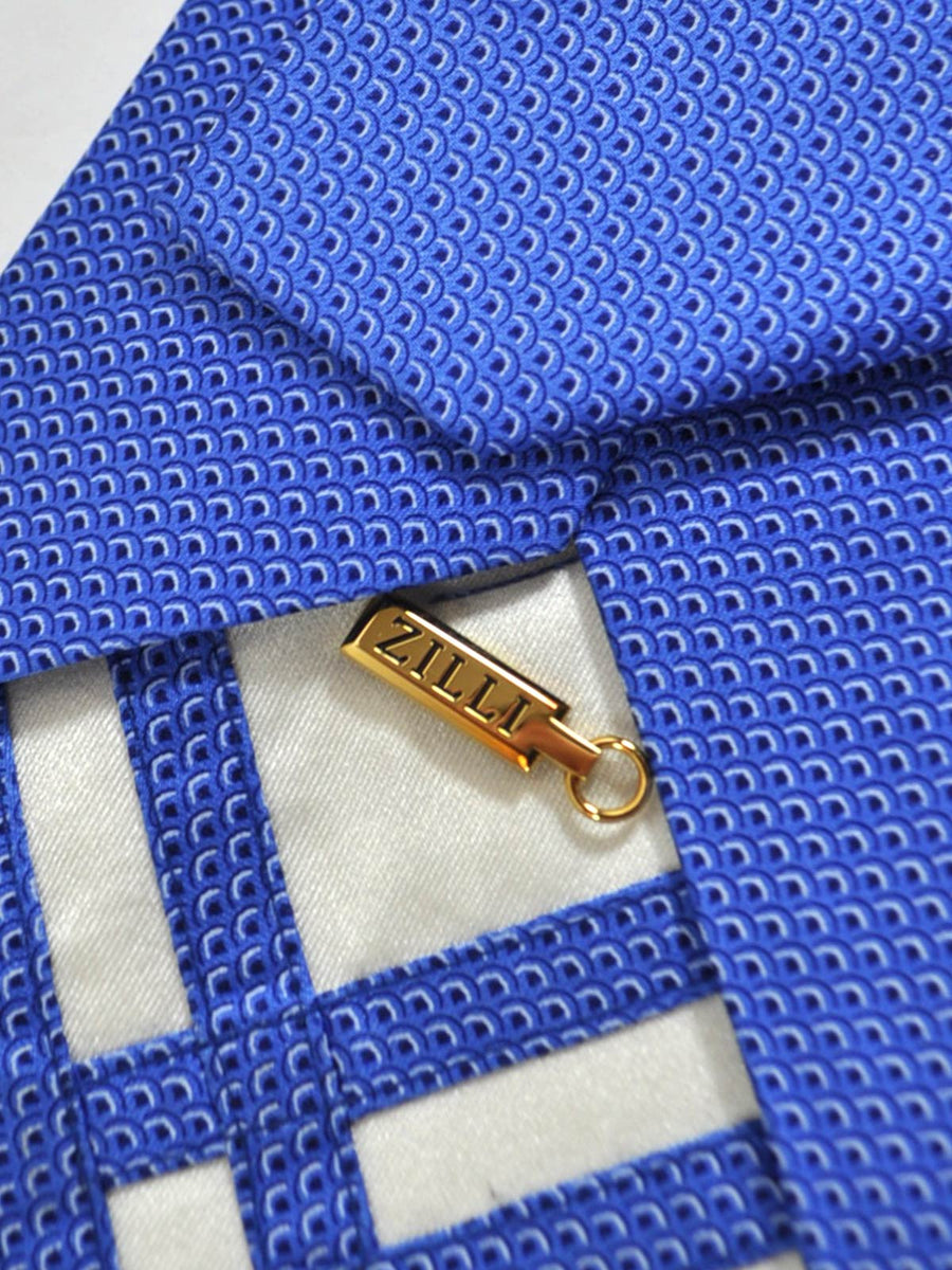 Zilli Extra Long Tie Royal Blue