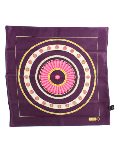 Zilli Silk Pocket Square Set Purple