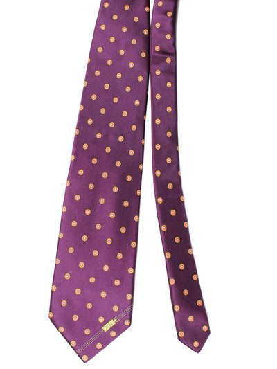 Zilli Silk Tie & Pocket Square Set Purple