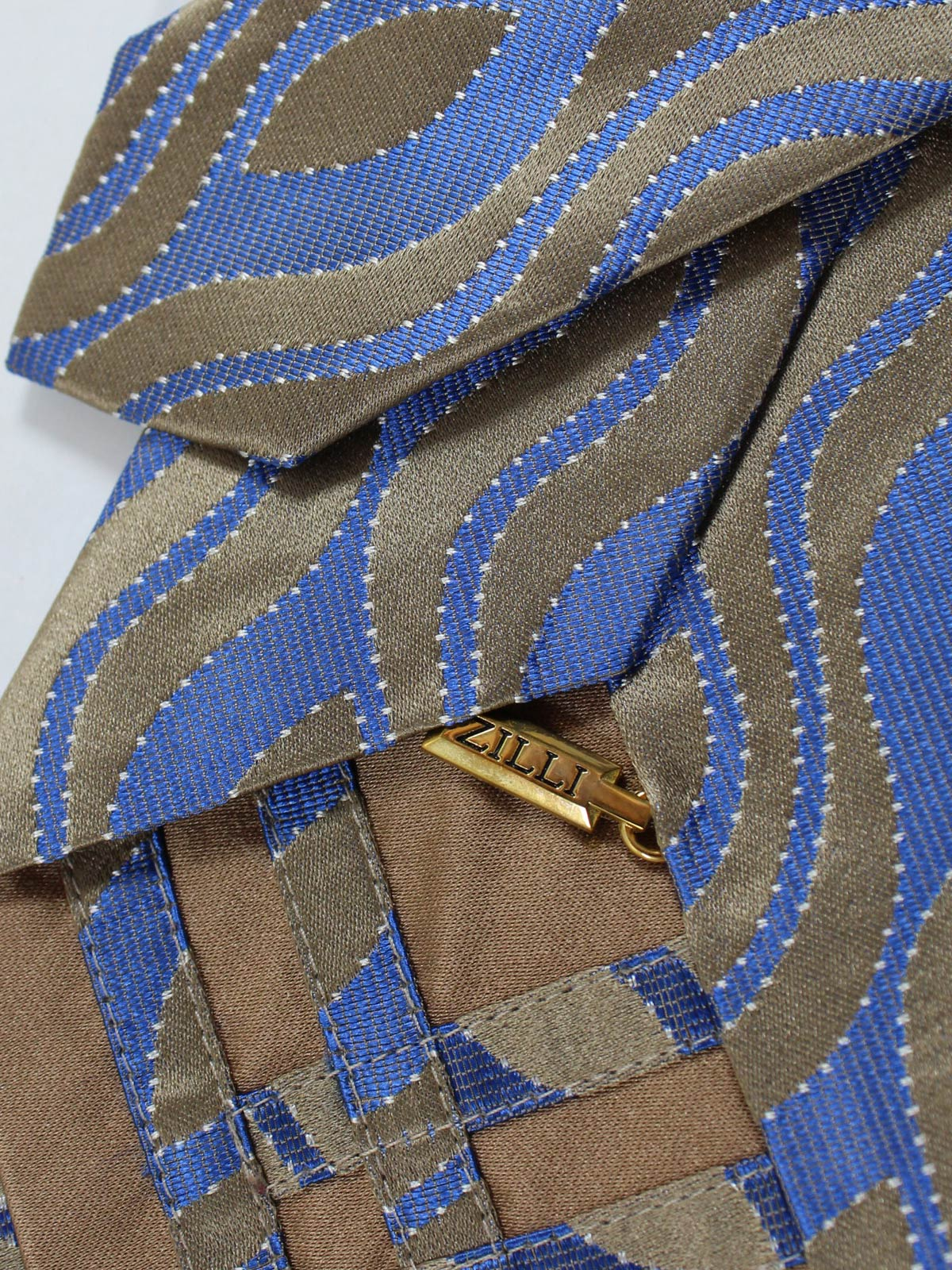 Zilli Silk Tie Taupe - Wide Necktie FINAL SALE