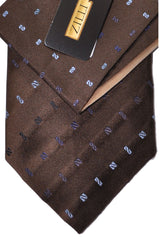 Zilli Tie & Pocket Square Set Brown