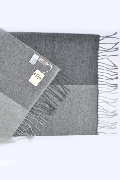Agnona Scarf Charcoal Gray Cashmere Shawl - FINAL SALE