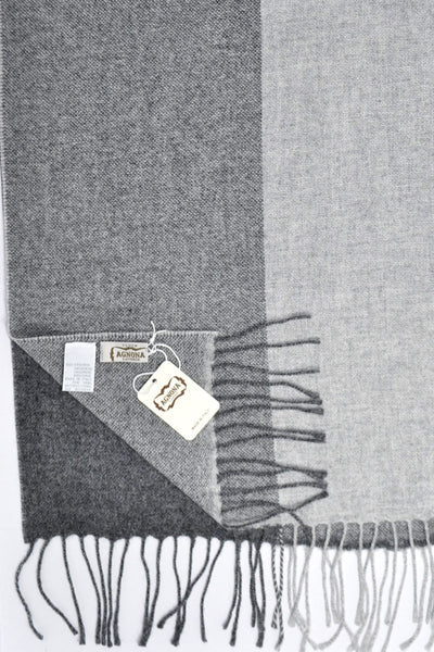 Agnona Scarf Charcoal Gray Luxurious Cashmere