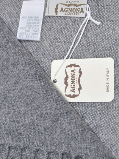 Agnona Scarf Charcoal Gray  New