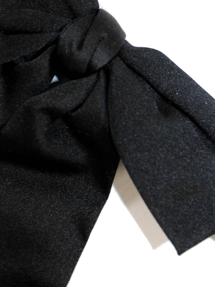 Designer Bow Tie Solid Black FINAL SALE