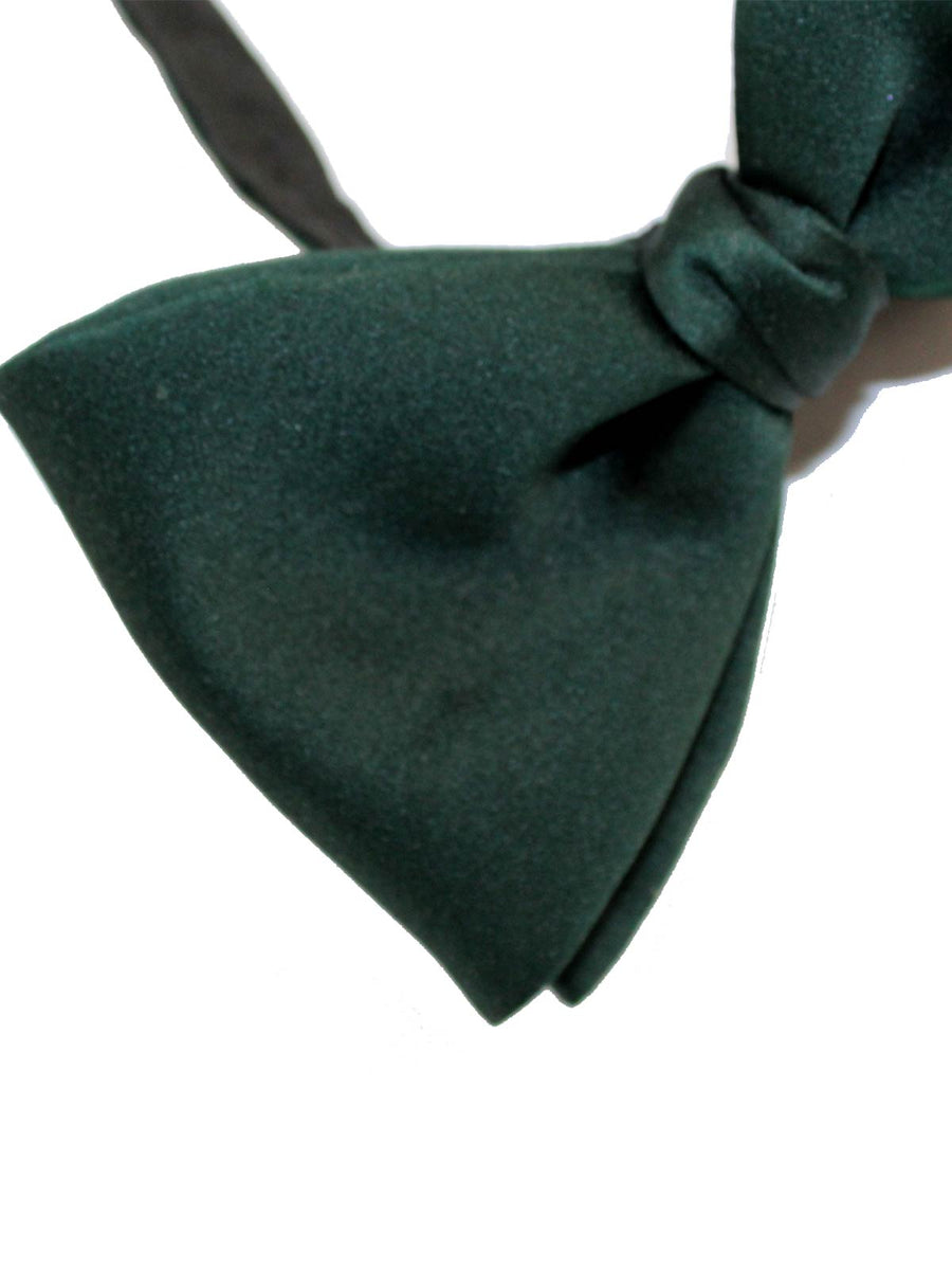 Designer Bow Tie Solid Dark Green Large Butterfly FINAL SALE