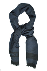 Giorgio Armani Scarf Black Midnight Blue