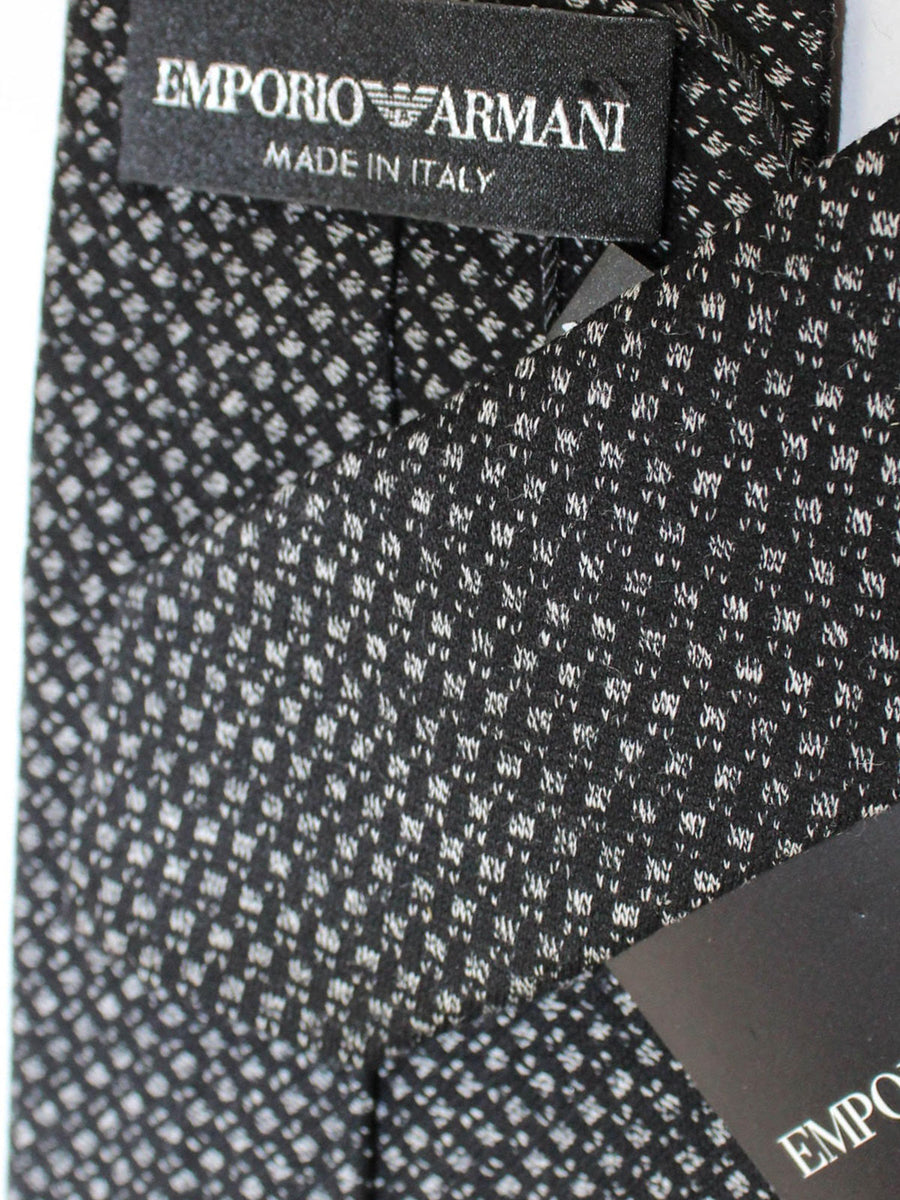 Armani Silk Tie Black Gray Design