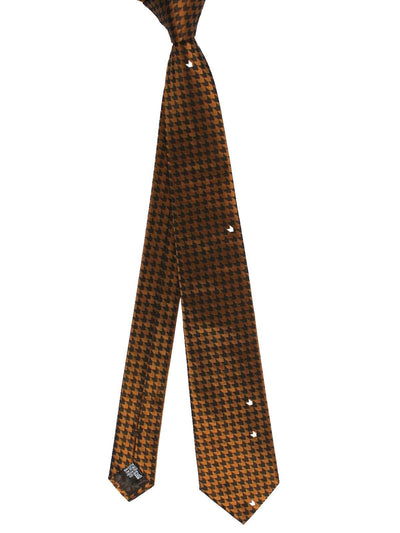 Armani Tie Brown Houndstooth