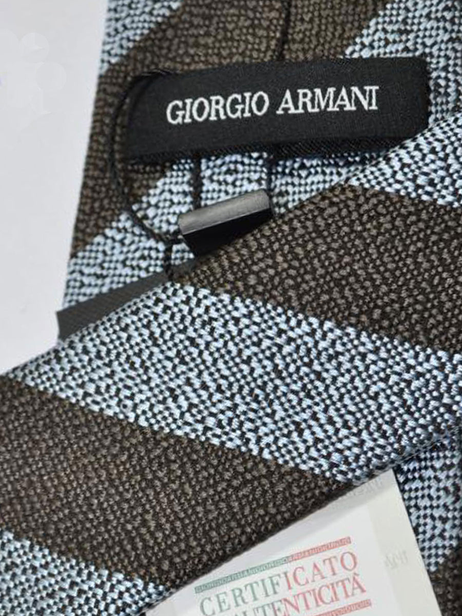 Giorgio Armani Tie Brown Silver Stripes Design