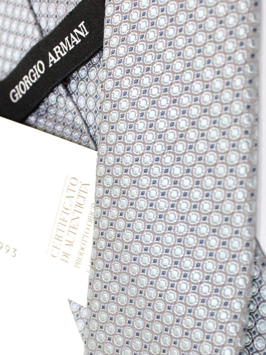 Armani Tie Powder Blue Geometric Silk