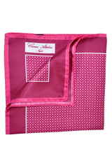 Cesare Attolini Silk Pocket Square Pink