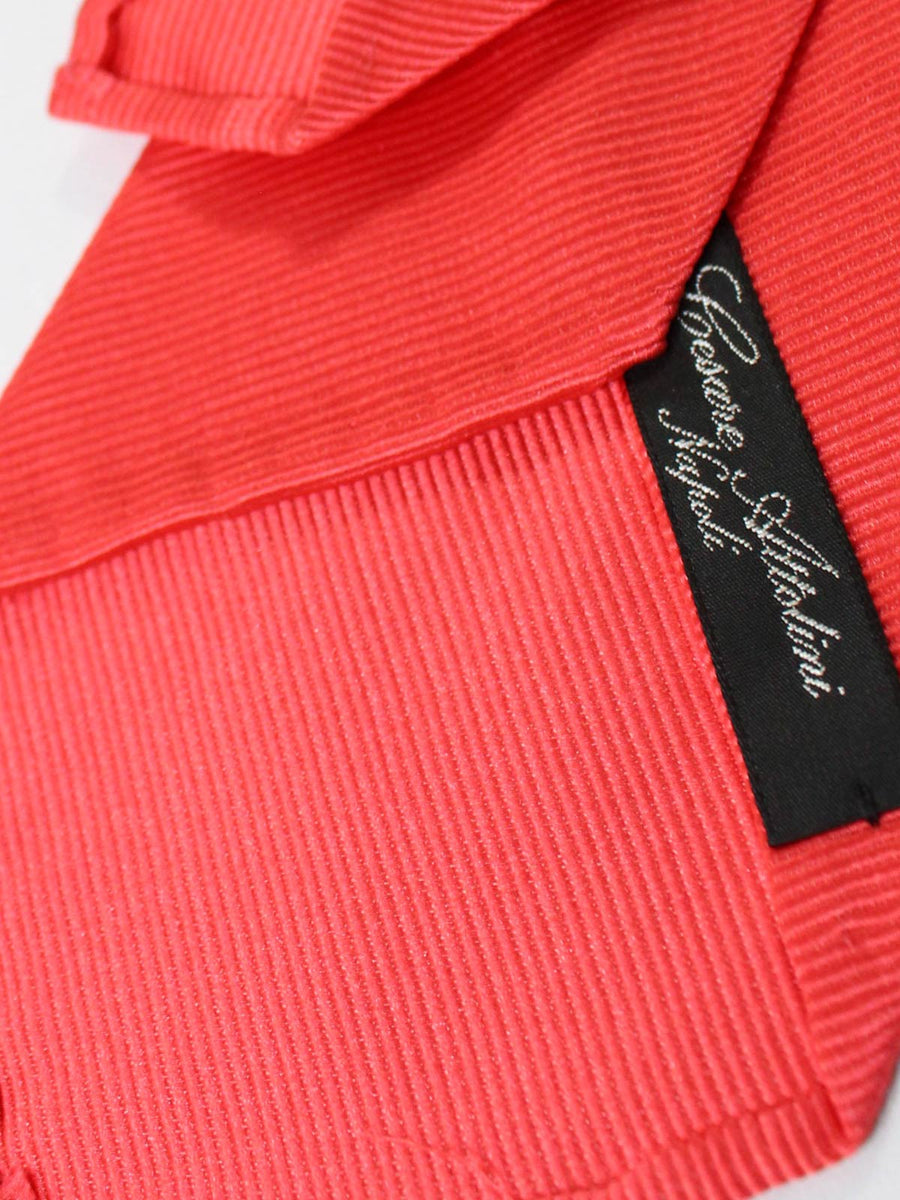 Cesare Attolini Unlined Tie Solid Bright Red SALE