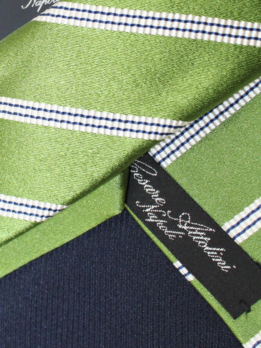 Cesare Attolini Silk Tie Green Stripes