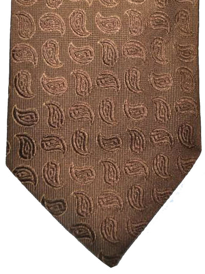Cesare Attolini Tie Medium Brown Leaves Design