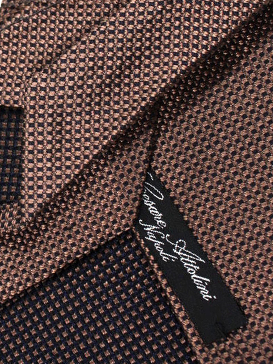 Cesare Attolini Tie Brown Design
