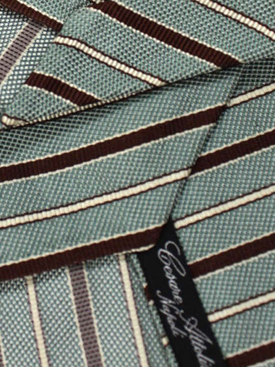 Cesare Attolini Tie Ceylon Brown Stripes