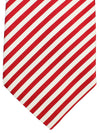 Cesare Attolini Tie Red White Stripes