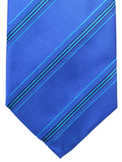 Cesare Attolini Tie Royal Aqua Stripes