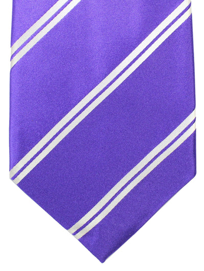 Cesare Attolini Tie Purple Stripes