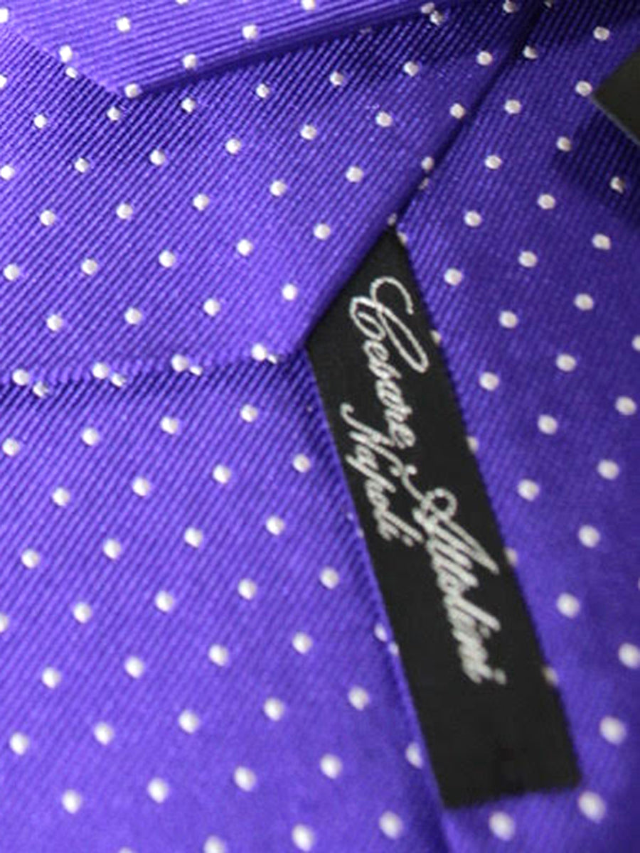 Attolini Silk Tie Purple Dots