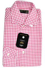 Barba Shirt Raspberry Pink Check
