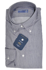 Barba Sport Shirt Gray Stripes - Button Down Collar