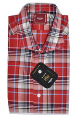 Barba Sport Shirt Red Plaid