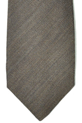 Barba Sevenfold Tie Brown Wool Silk