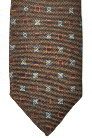Barba Sevenfold Tie Brown Navy Copper