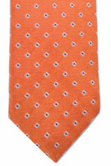 Barba Sevenfold Tie Navy Orange Geometric