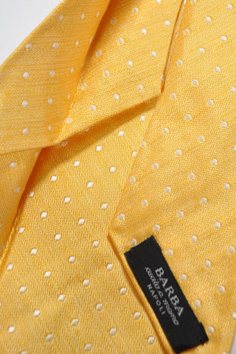 Barba Sevenfold Tie Orange Silver Dots