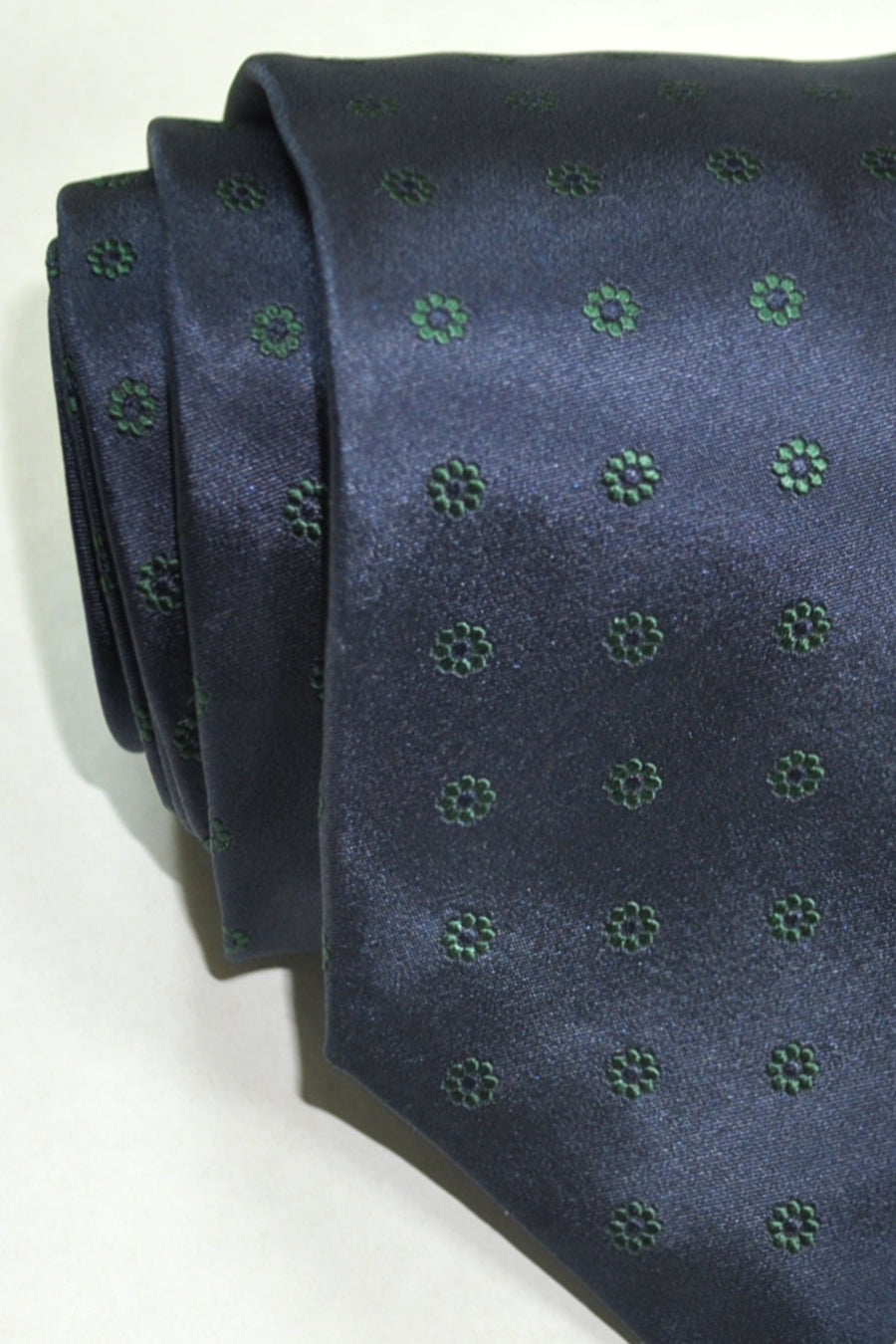 Barba Sevenfold Tie Dark Navy Green Floral