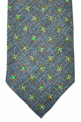 Barba Sevenfold Tie Gray Blue Green Geometric