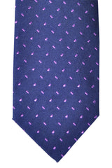 Barba Sevenfold Tie Navy Lilac Design