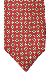Barba Sevenfold Tie Red Brown Gold Design