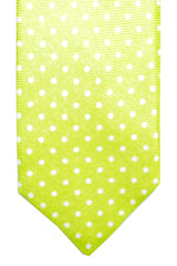 Barba Sevenfold Tie Lime White Dots Design