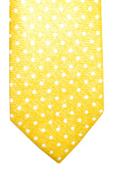 Barba Sevenfold Tie Yellow White Dots Design