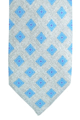 Barba Sevenfold Tie Silver Sky Blue Design