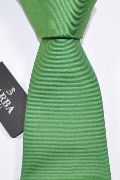 Barba Sevenfold Tie Green Grosgrain