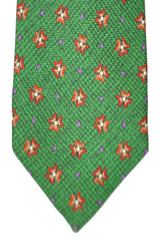 Barba Sevenfold Tie Green Red Purple Geometric